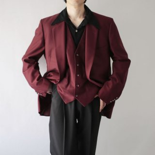 70's 2piece poly tailored jacket