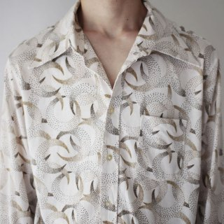 70's moon poly shirt