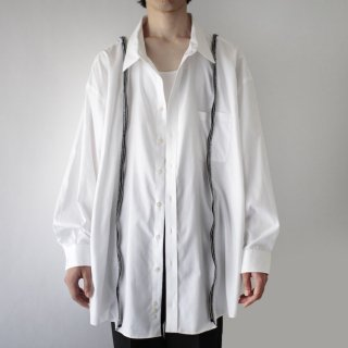 REMAKE cross zipped shirt