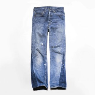 80's Levi's 501 , dirty denim pants , red ear