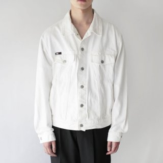 OLD Donna Karan white trucker jacket