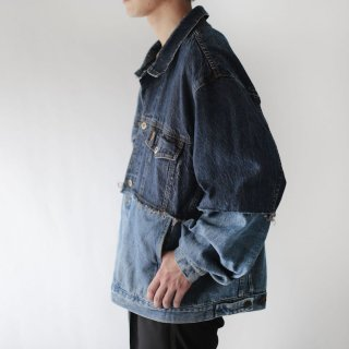 REMAKE switching trucker jacket