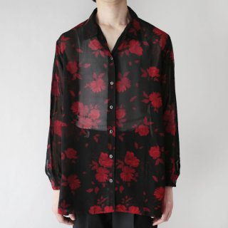 OLD flower sheer shirt