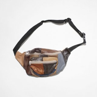 OLD patchwork leather waist bag