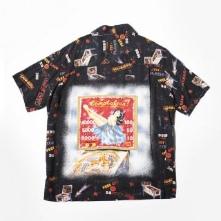 OLD game rayon open collar h/s shirt