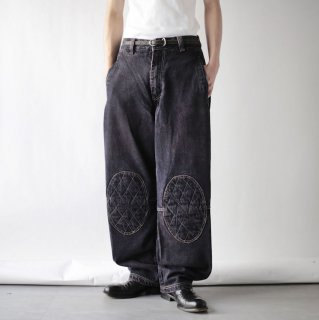 OLD knee patch denim pants