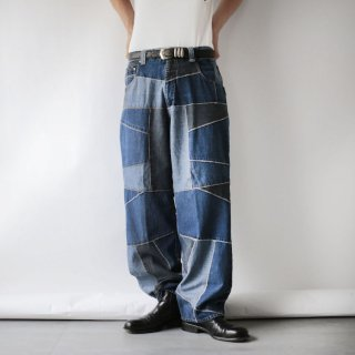 OLD patchwork denim pants