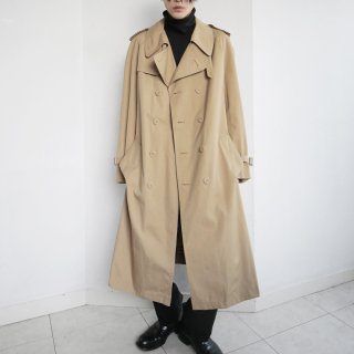 old Poland nova check trench coat