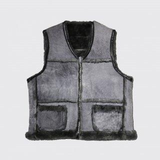 vintage schott mouton vest
