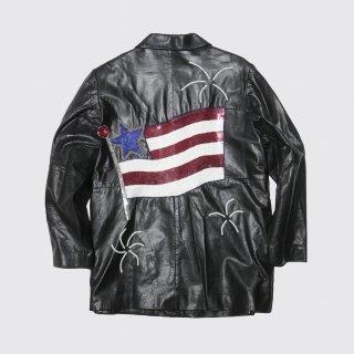 vintage spangle leather jacket