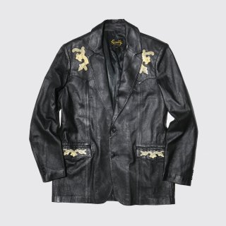 vintage python york western leather jacket