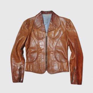 vintage craft leather jacket