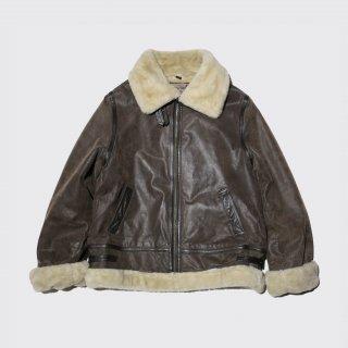 old b-3 type faux mouton jacket