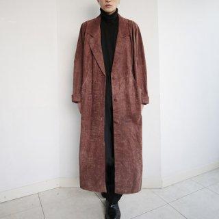 old super long python coat