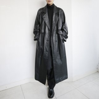 old double flap single trench coat