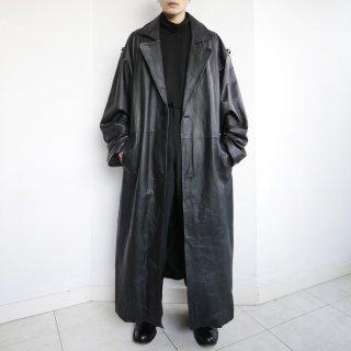 old super oversized leather coat