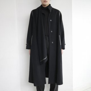old scarf wool coat