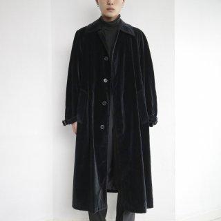 old velvet soutien collar coat