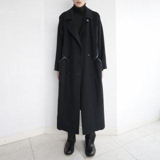 old cross leather wool coat