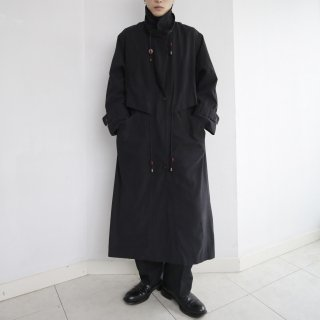 old layered stand collar coat