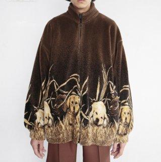 old oversized dog fleece jacket
