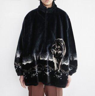 old wolf fleece jacket