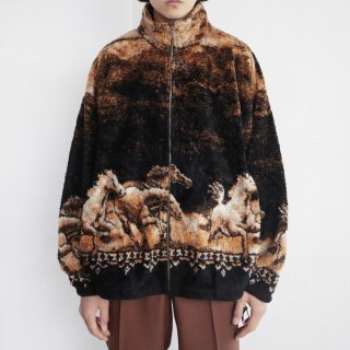 old horse fleece jacket