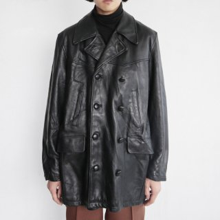 old Wilson double breasted leather coat