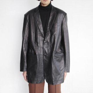 old oversized leather tailored jacket