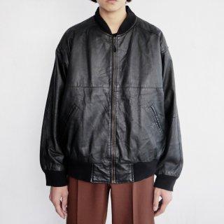 old leather bomber jacket