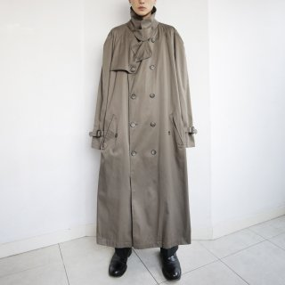 old oversized trench coat
