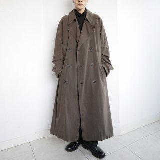 old oversized faux skin trench coat with liner