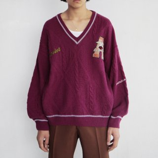 old college broderie Tilden sweater