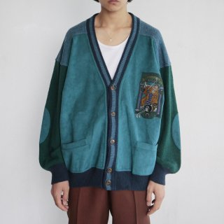 old Mimi spirt Italy suede mix cardigan