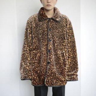 old faux fur/rubber reversible jacket