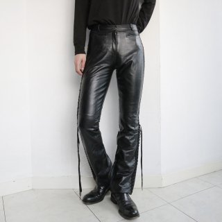 old lace up leather trousers
