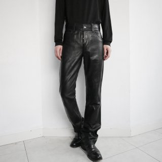 old 5p flare leather trousers