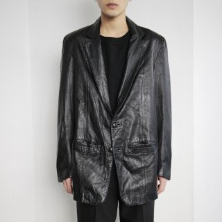 old 2b leather tailored jacket