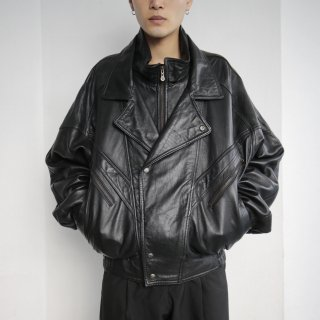 old double front leather jacket