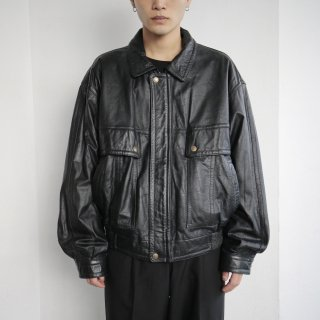 old loose leather tracker jacket