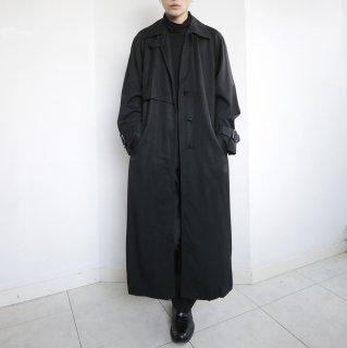 old super long gabardine single trench coat