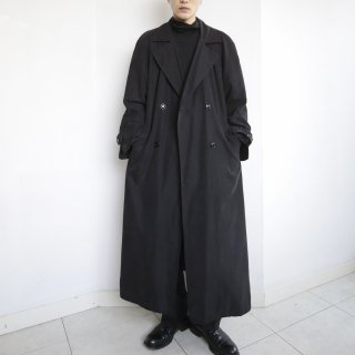 old super long trench coat