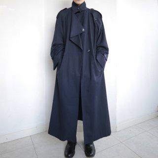 old drape gabardine super long coat