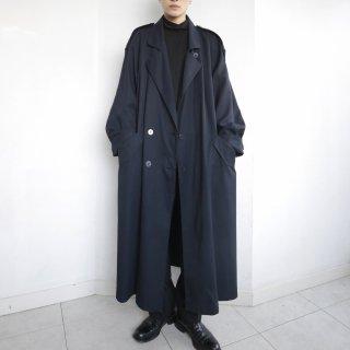 old super long gabardine trench coat