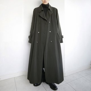 old super long double breasted coat