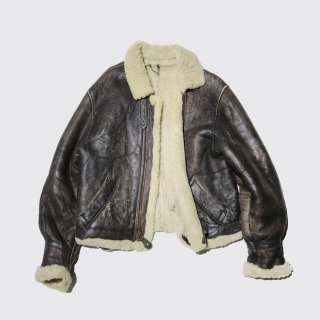 old b-3 type mouton jacket