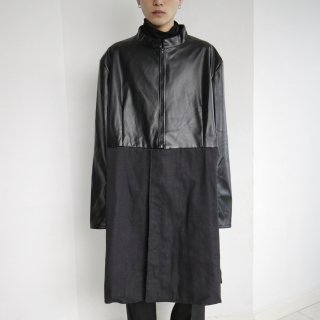 old combi leather coat