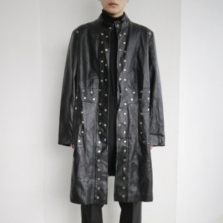 old studs leather coat