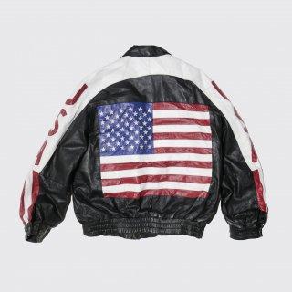 old flag leather jacket
