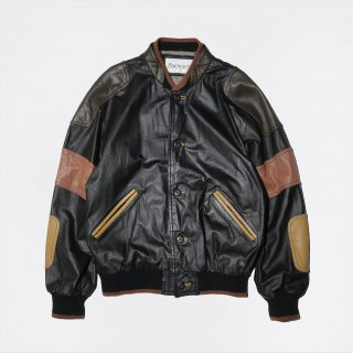 old patched leather jacket